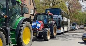De Graafschap Football Fans Escorting Team Bus With Tractors (Eredivisie Promotion)